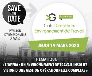 Gala Directeurs Environnement de Travail le jeudi 19 mars 2020