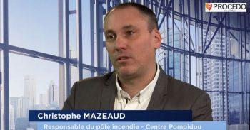 Christophe Mazeaud, responsable du pôle incendie du Centre Pompidou – Parcours - Agora News Sécurité